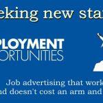 Seeking new staff - job advertising that works